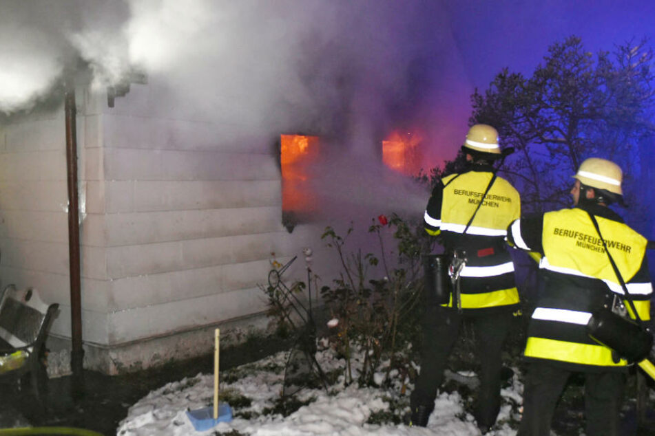 In München kam es in den Morgenstunden des Dienstags zu einem Hausbrand.