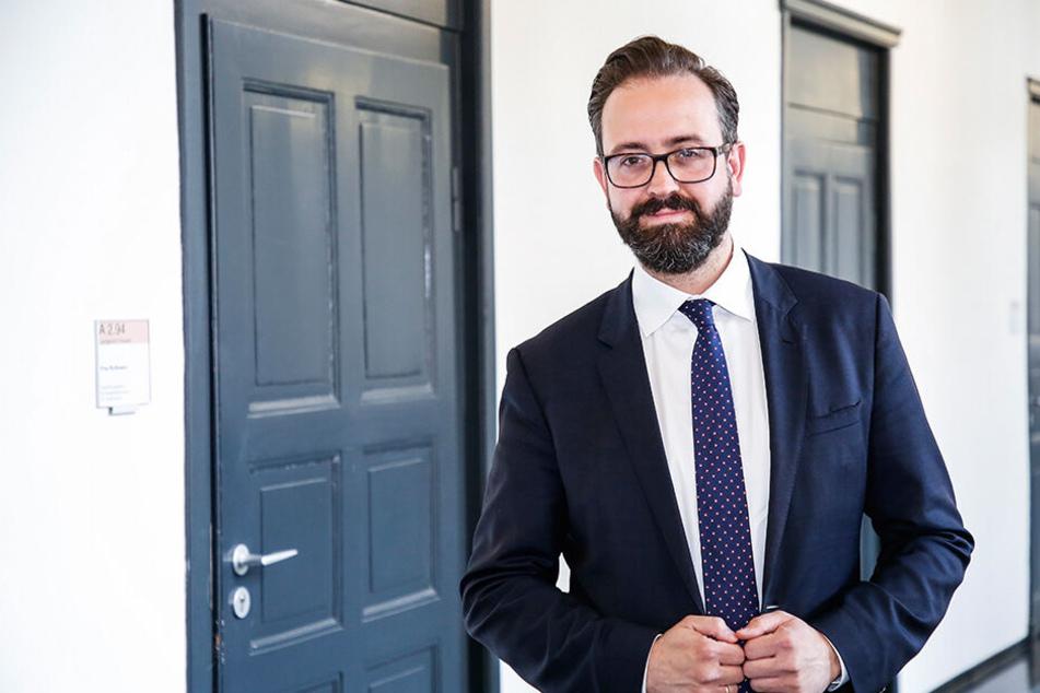 Sebastian Gemkow (41, CDU) will Chef im Leipziger Rathaus werden. Die politische Überholspur ist dem gelernten Juristen nicht fremd.