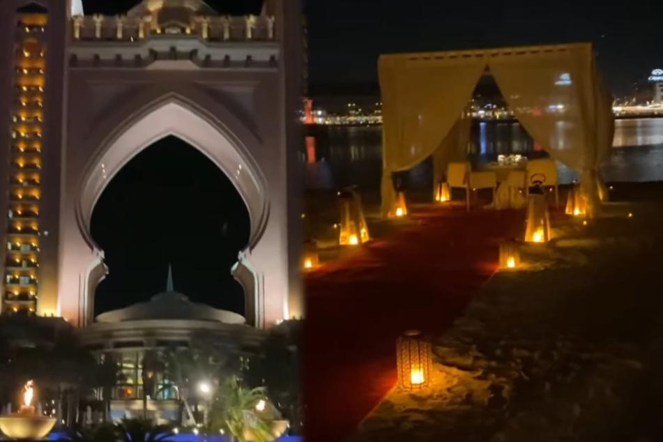 In Dubai wartet eine romantische Traumkulisse auf Carmen (55) und Robert Geiss (56). (Fotomontage)