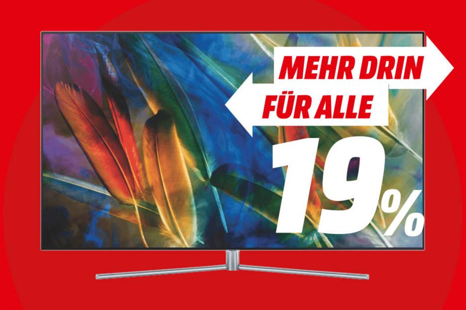 media markt schenkt dir die mehrwertsteuer auf samsung tvs. Black Bedroom Furniture Sets. Home Design Ideas