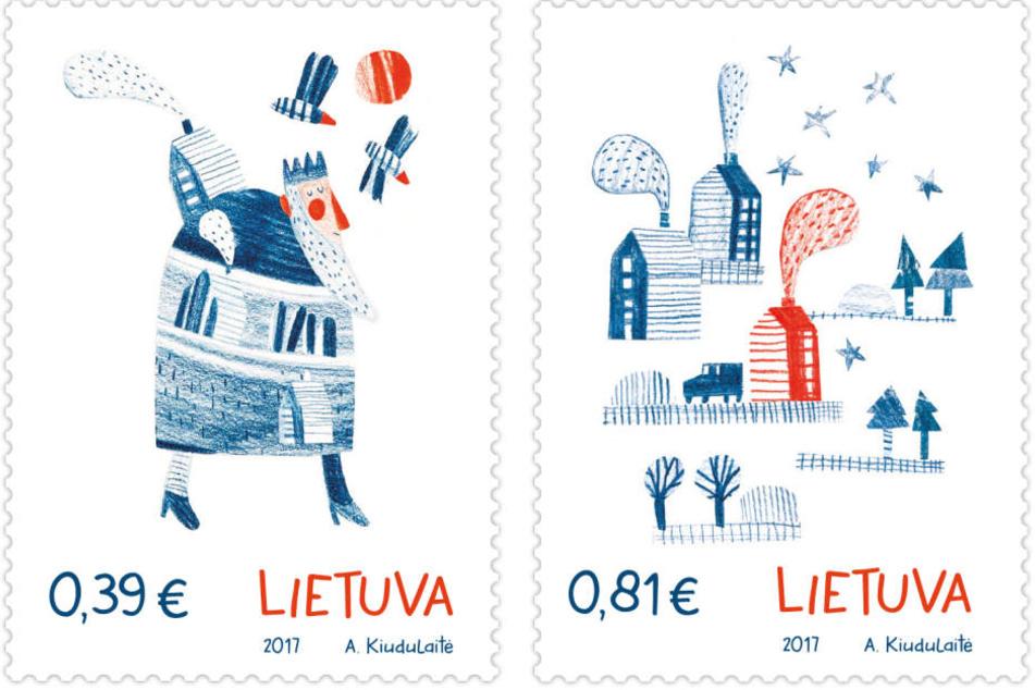 Zwei Postwertzeichen, die nach Lebkuchen duften, hat die Post von Litauen herausgegeben.