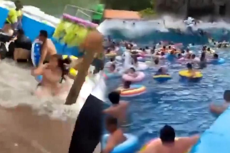 Mitarbeiter im Suff? Drei Meter hohe Welle verletzt 44 Menschen in Freibad