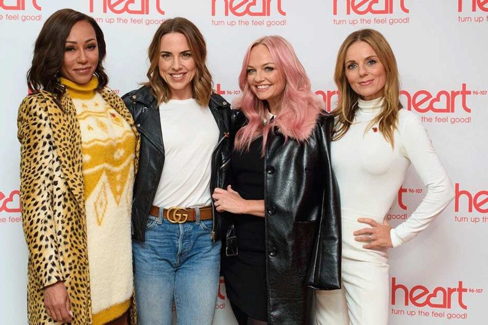 Die Spice Girls: Mel B (43), Mel C (45), Emma (43) und Geri (46). Victoria Beckham (44) ist nicht mehr dabei.