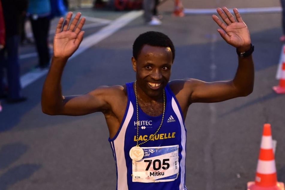 Mitku Seboka aus Fürth gewann den 10-km-Lauf der Männer.