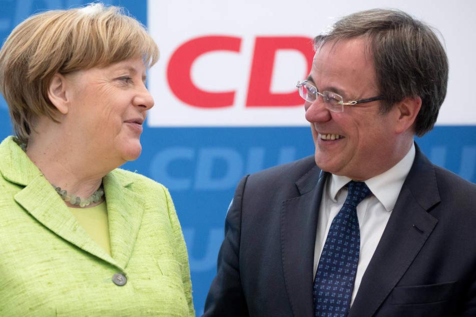 Armin Laschet (rechts) ist der CDU-Spitzenkandidat für NRW.