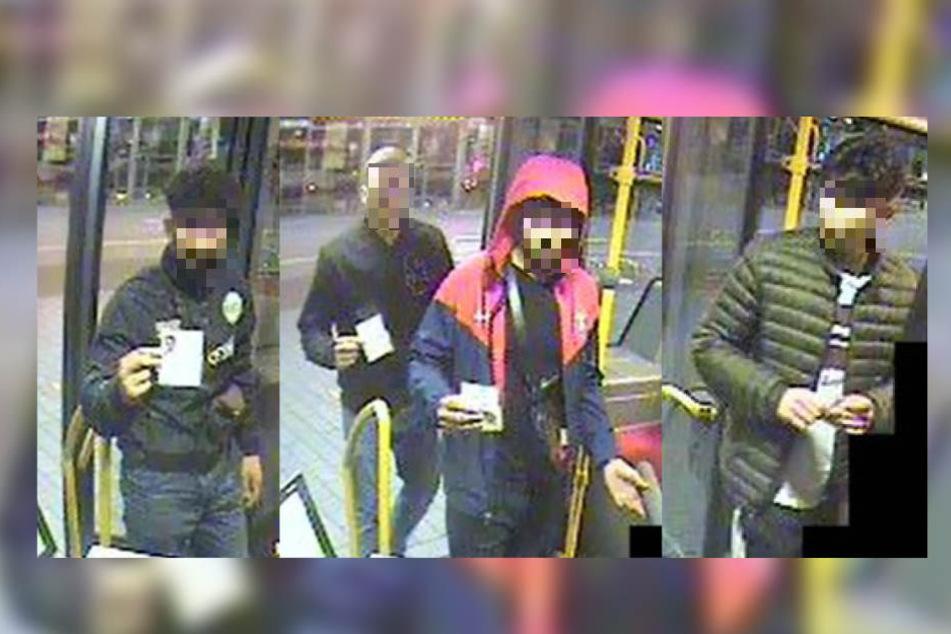 Überfall mit Schusswaffe: Wer kennt diese jungen Männer?