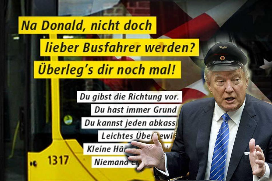 Berliner Verkehrsbetriebe bieten Donald Trump Job an