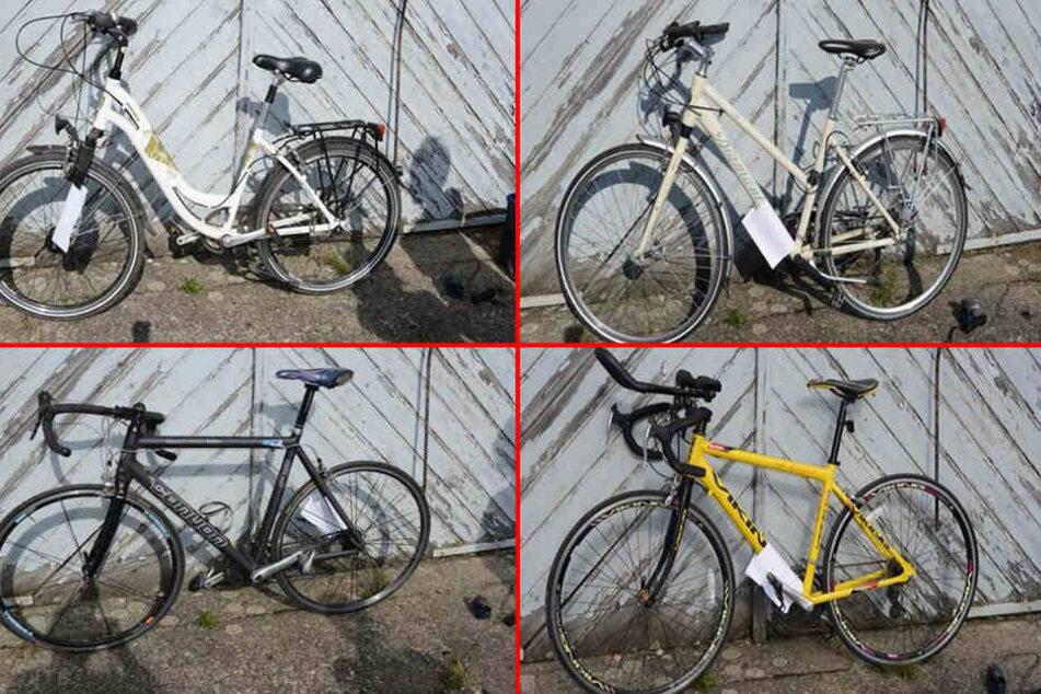 Die Polizei fand bei der Razzia im Osten von Halle 39 Fahrräder. 18 davon warten noch auf ihren rechtmäßigen Besitzer.