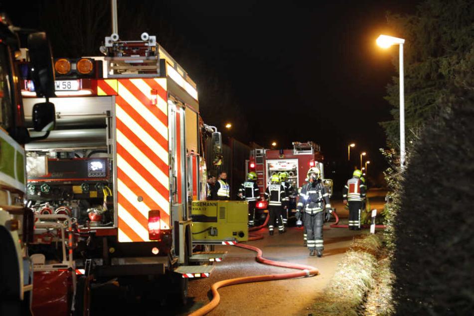 In einer Kleingartenanlage in Reichenhain hat es am Mittwochabend gebrannt.