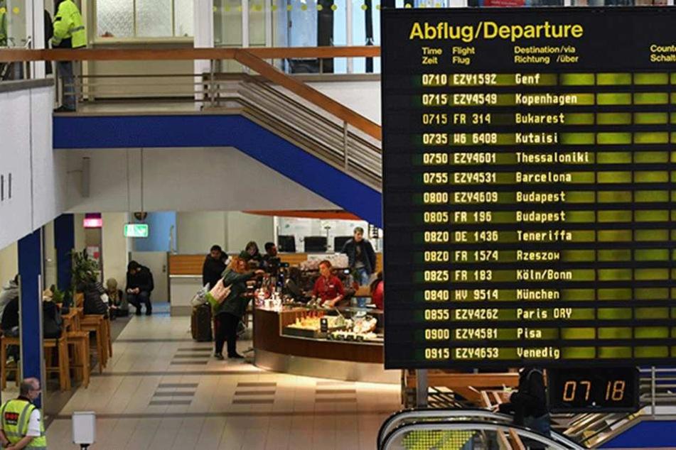 Teilweise musste Terminal A am Flughafen Schönefeld geräumt werden (Symbolfoto).
