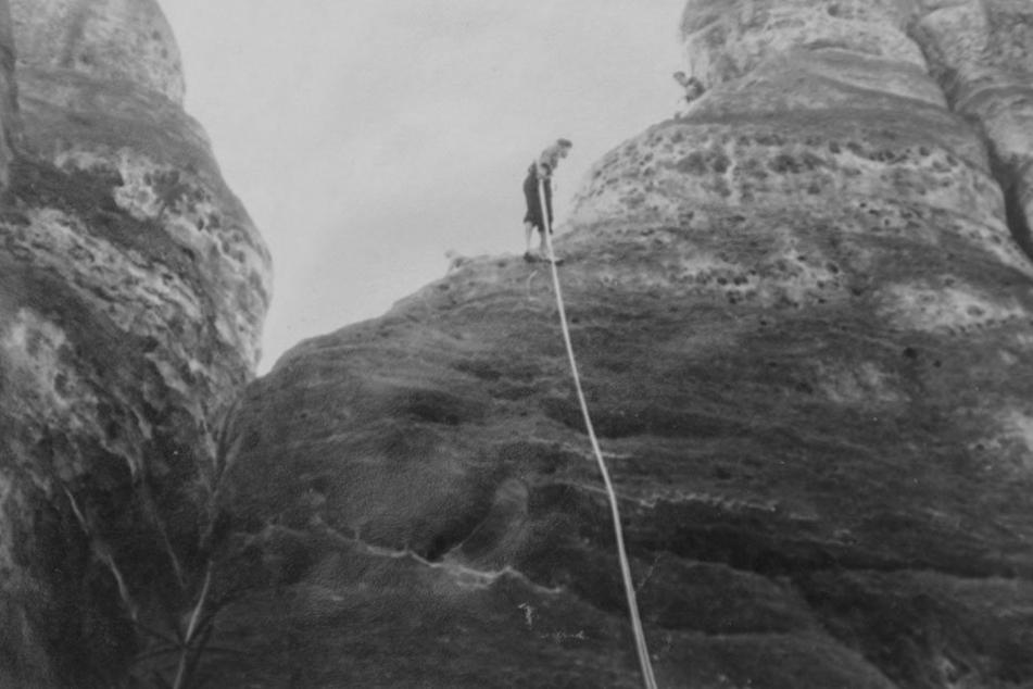 Seeliger im Einsatz: Der ehrenamtliche Retter aus Oybin befreite Dutzende in Not geratene Kletterer.