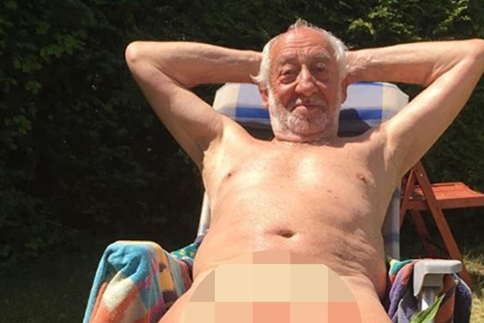 Dieter Hallervorden entspannt nackt im Garten und zeigt es im Internet