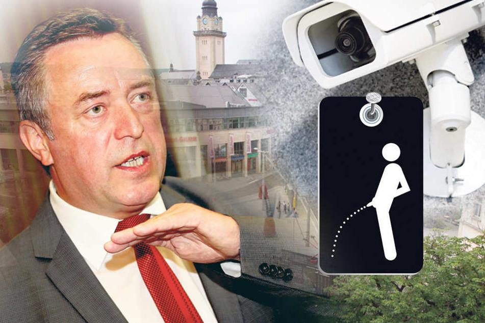 Oberbürgermeister Ralf Oberdorfer (FDP) wird wegen des Pinkel-Pöbels unter Druck gesetzt.