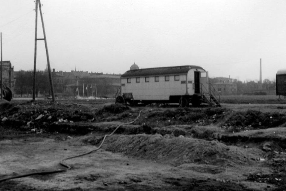 So sah der Hartmannplatz 1950 aus.