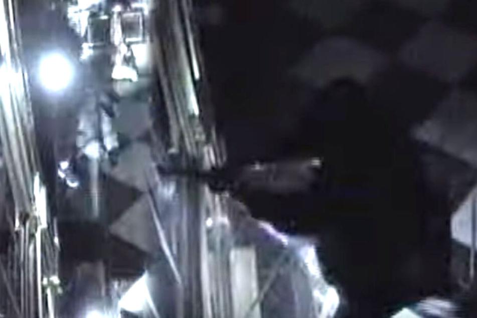 Screenshot aus einem von der Polizei Sachsen veröffentlichten Überwachungsvideo zeigt den Einbruch im Grünen Gewölbe.