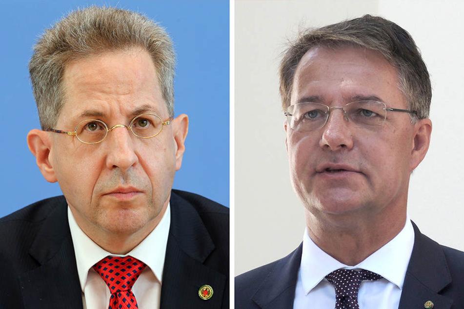 Die Bildkombo zeigt Hans-Georg Maaßen (li.), Präsident des Bundesamtes für Verfassungsschutz, und Gunther Adler, beamteter Staatssekretär im Bundesinnenministerium.