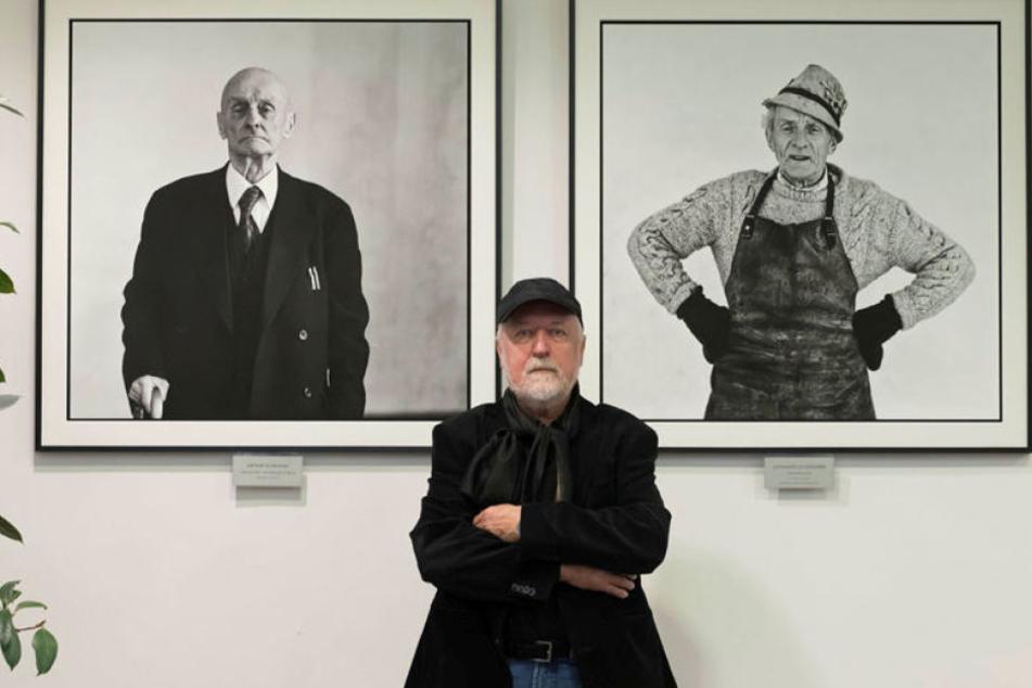 In Annaberg geboren, in Berlin lebend: Fotograf Ulrich Burkhardt schenkte seiner Heimatstatdt die Porträts Artur Schramm (links) und Johannes Schönherr.