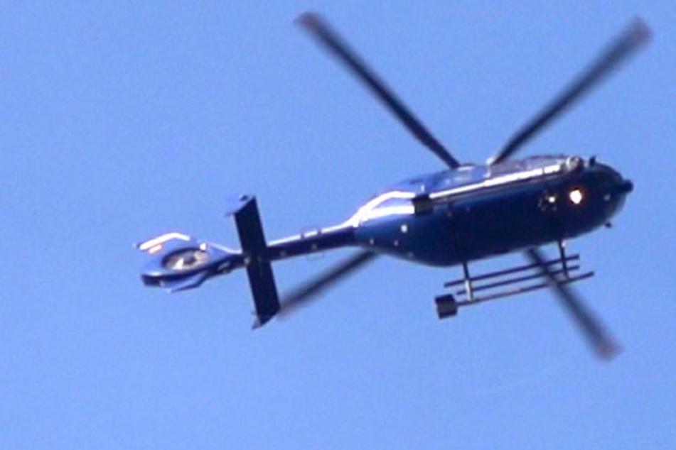 Mega-Verfolgungsjagd in Döbeln: Polizei sucht mutmaßlichen Autodieb mit Hubschrauber!