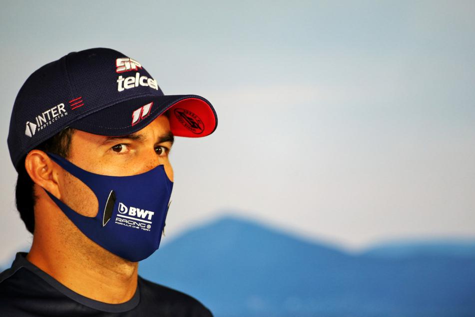 Sergio Perez (30) aus Mexiko vom Team Racing Point wurde positiv auf das Coronavirus getestet.