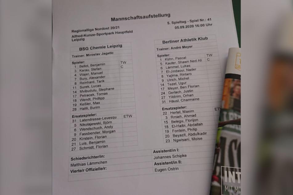 Chemie-Trainer Jagatic wechselte im Vergleich zum letzten Spiel auf drei Positionen.