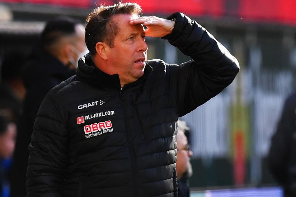 Dynamo-Trainer Markus Kauczinski (51) sieht schon die Ziellinie. Bloß nicht stolpern heißt es jetzt. Erst recht nicht beim Schlusslicht Unterhaching.