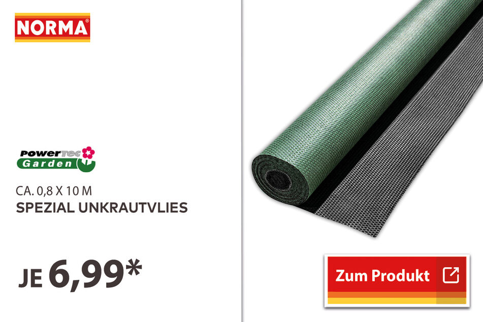 Spezial Unkrautvlies für 6,99 Euro