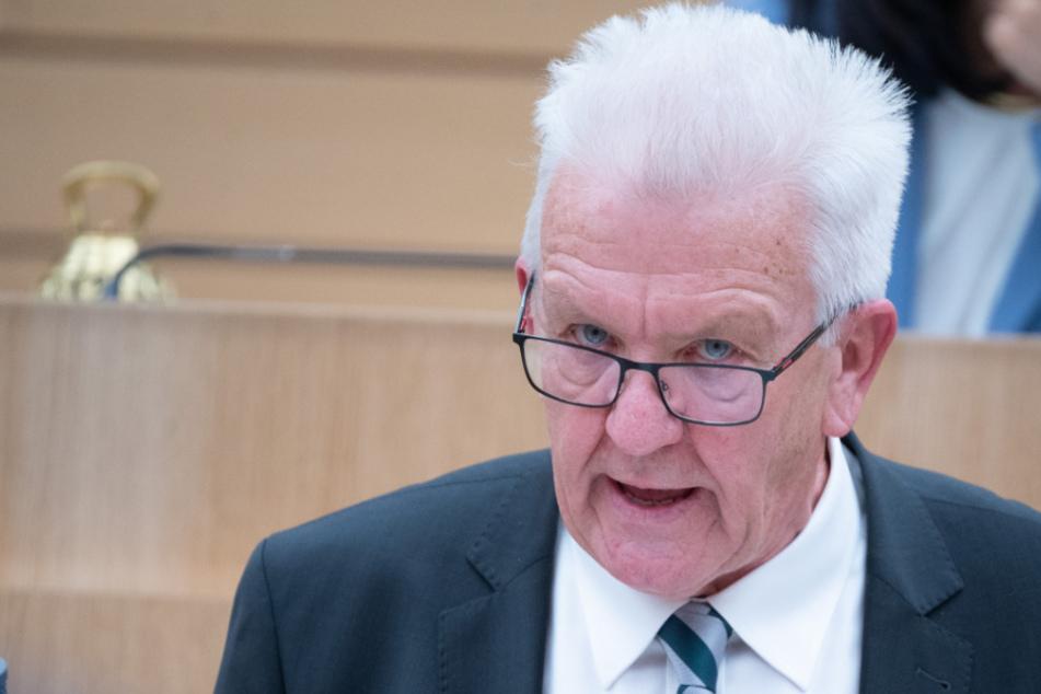 Baden-Württembergs Ministerpräsident Winfried Kretschmann (72).