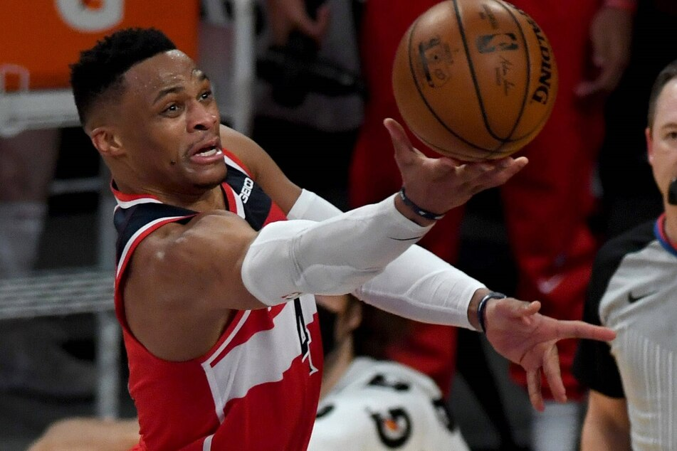 Russell Westbrook scored his 35th triple-double as the Wizards beat the Pacers on Saturday night