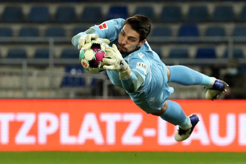 An ihm kam Union am Sonntagabend nicht vorbei: Bielefelds Torwart Stefan Ortega.