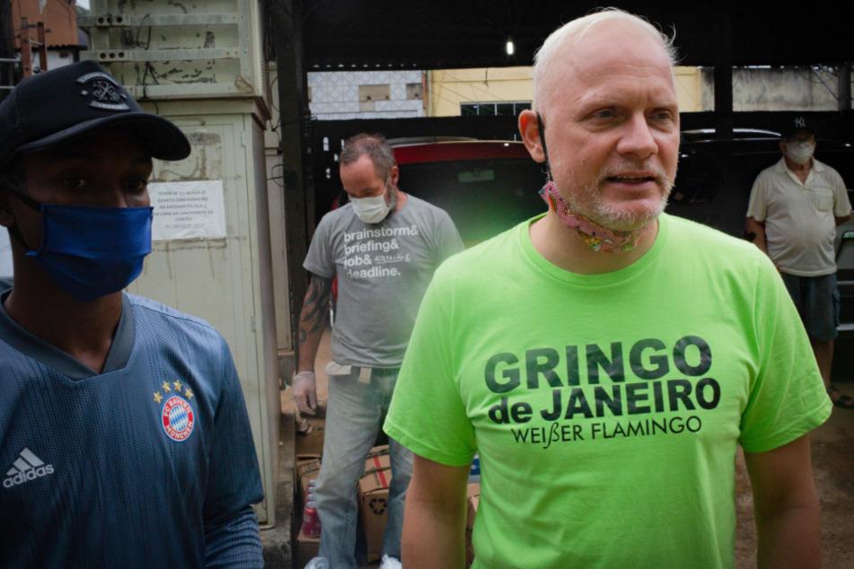 """Bernhard Weber (rechts) alias """"Gringo de Janeiro""""."""