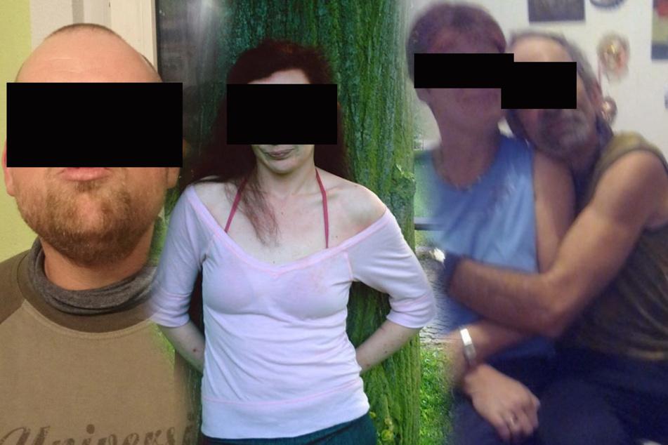 Die mutmaßlichen Täter (v.l.): Stefan B. (28), Stefanie W. (31), Andreas R. und Anke F. (beide 51) sitzen in U-Haft. Laut Anklage agierten sie aus Habgier.