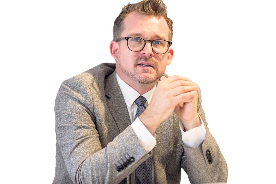 Ist für die Dresdner Radwege zuständig: Baubürgermeister Raoul Schmidt Lamontain (43, Grüne).