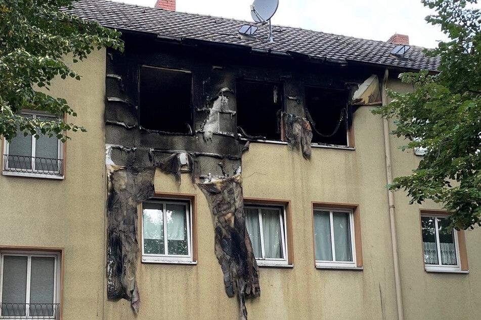 Das Feuer hatte in der Wohnung im Mönchengladbacher Stadtteil Giesenkirchen deutliche Spuren hinterlassen.