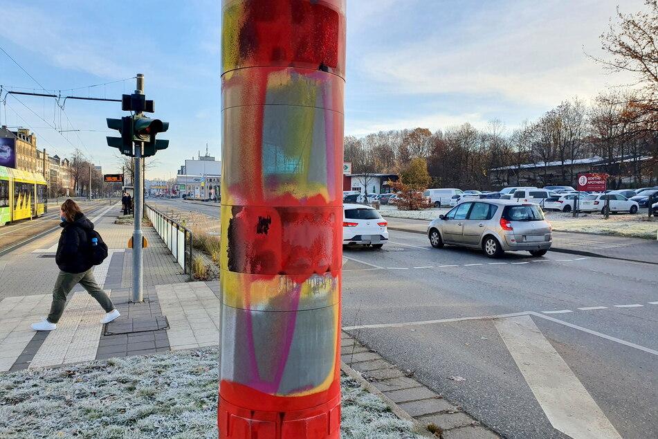 27 Blitzer wurden in Chemnitz beschmiert. Unter Verdacht steht eine Chemnitzerin (20).