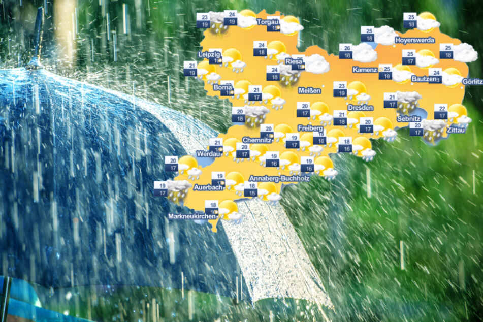 Unwettergefahr in Sachsen! Das Wochenende wird nass, aber warm