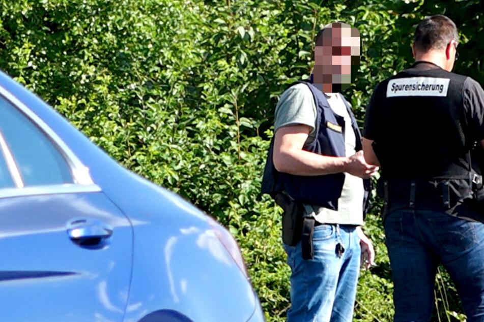 Alarm bei Schweinfurt: Messer-Mann rastet aus, Polizei schießt
