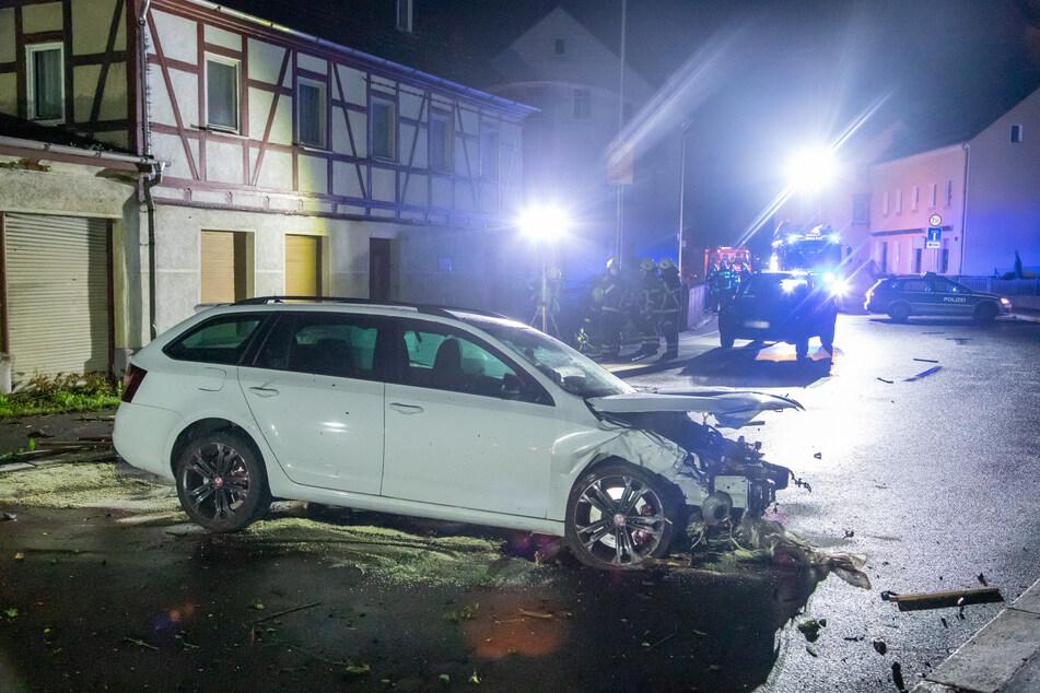 Am Skoda entstand Totalschaden.