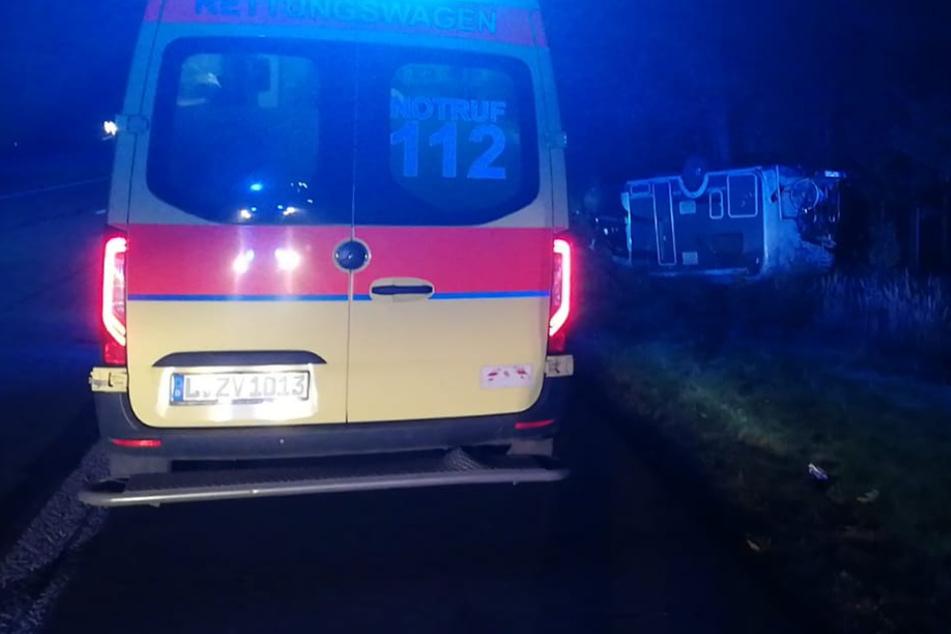 Unfall A14: Hund verursacht Wohnmobil-Unfall auf der A14 nahe Leipzig