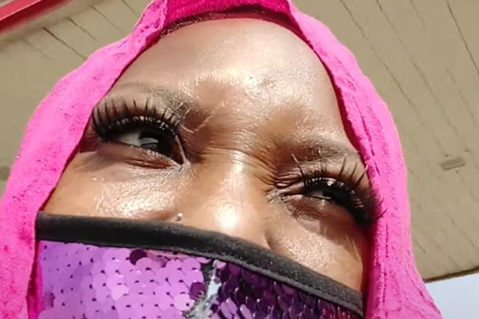 Mama Africa Muslimah: Ljeoma Ukenta auf einem Selfie-Video, das Monate vor dem Vorfall auf YouTube online ging.
