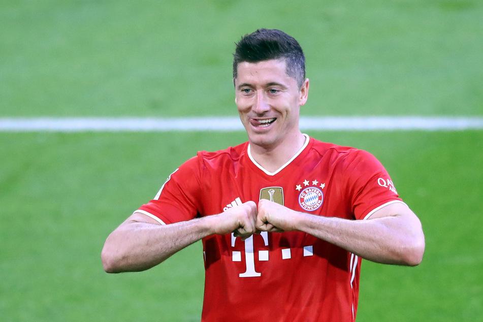 Robert Lewandowski hat den Torrekord von Gerd Müller am 33. Spieltag egalisiert.