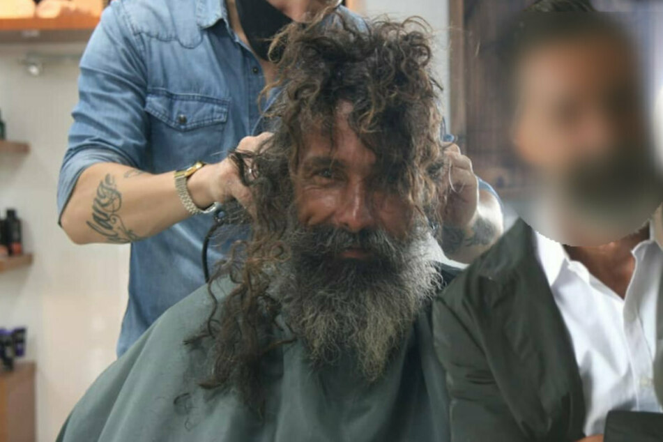 Homeless man gets mind-blowing makeover before being reunited with his sister