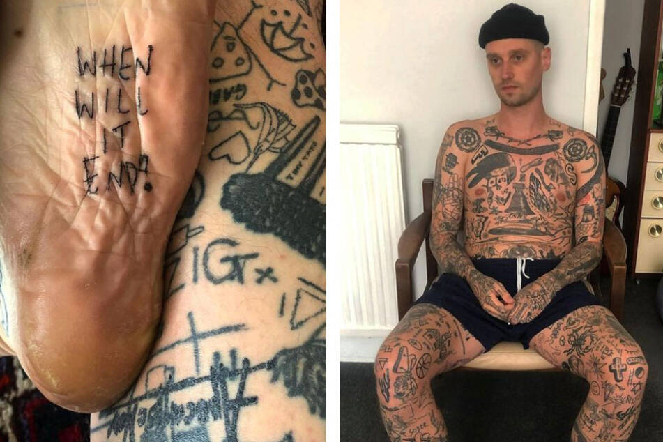 A tattoo a day keeps the boredom away: man responds to lockdown with extreme ink routine