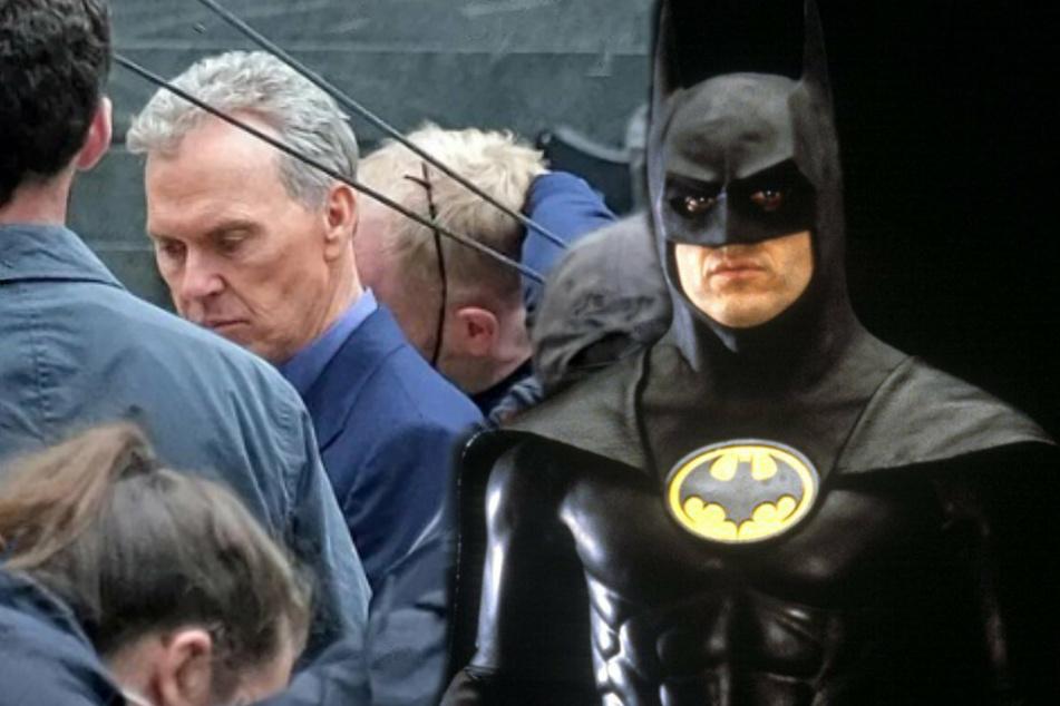 Back in Black: Photos show Michael Keaton's return as Batman in upcoming Flash movie
