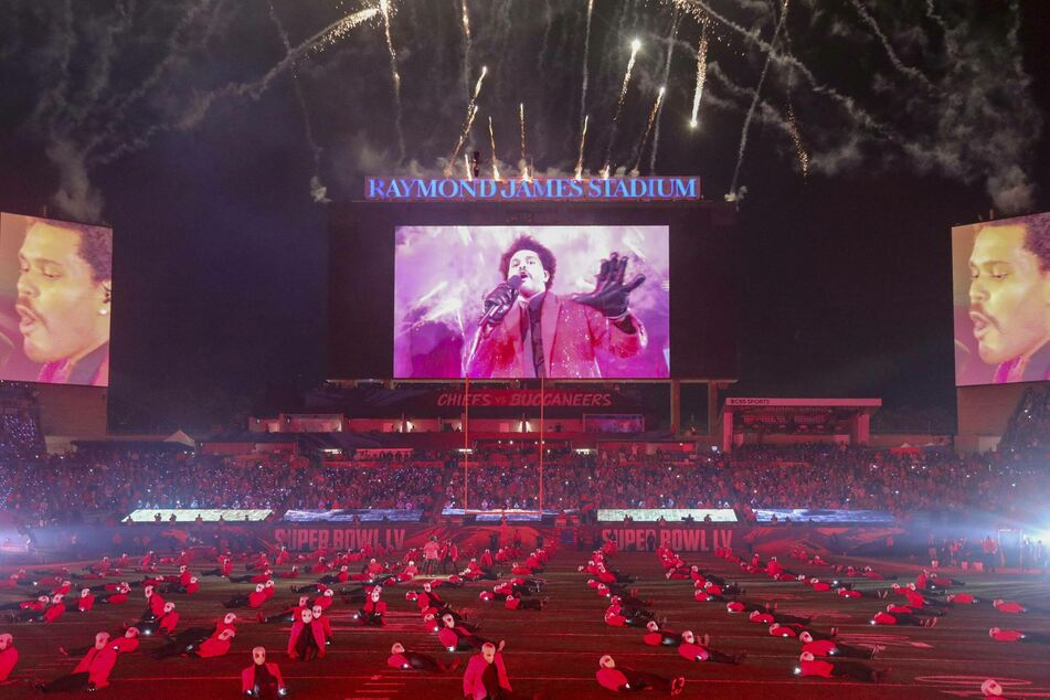 The Weeknd performed in front of a reduced and socially distanced audience.