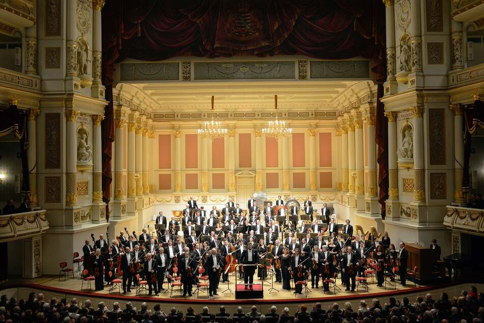 Die Sächsische Staatskapelle Dresden mit Chefdirigent Christian Thielemann.