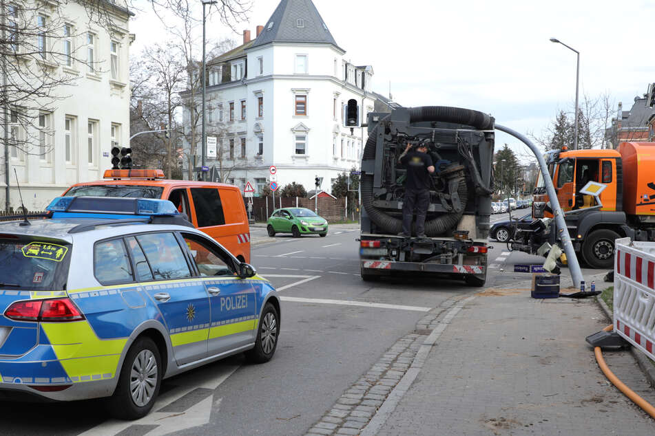 Die Polizei machte sich vor Ort ein Bild der Lage.