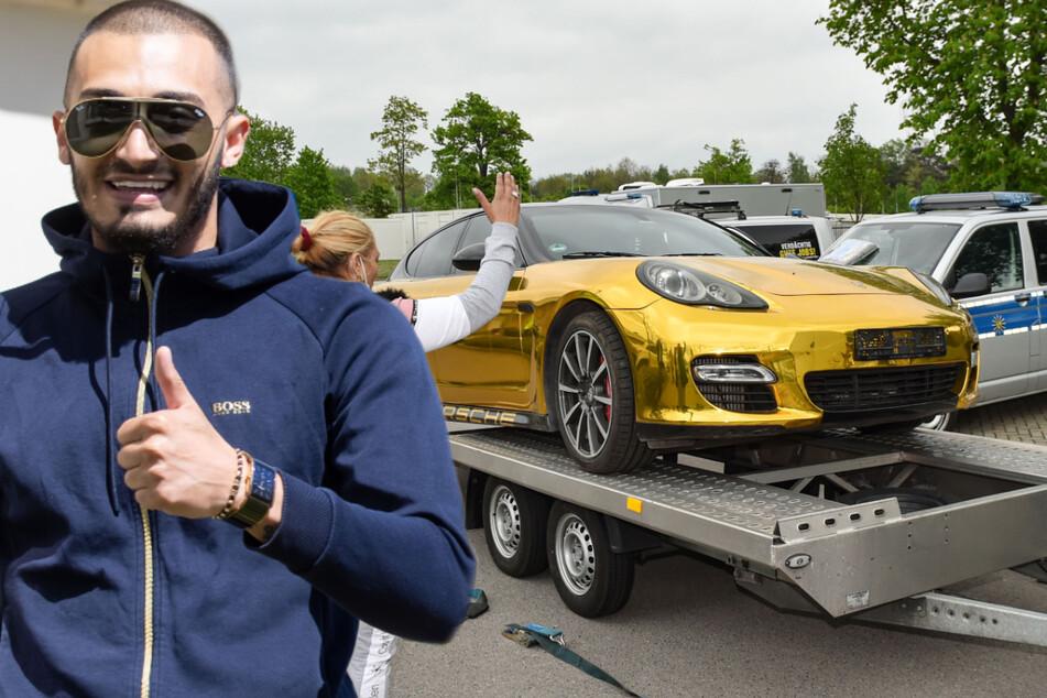 Dresden: Ausgefunkelt! Boris holt Papas Goldporsche in Dresden ab