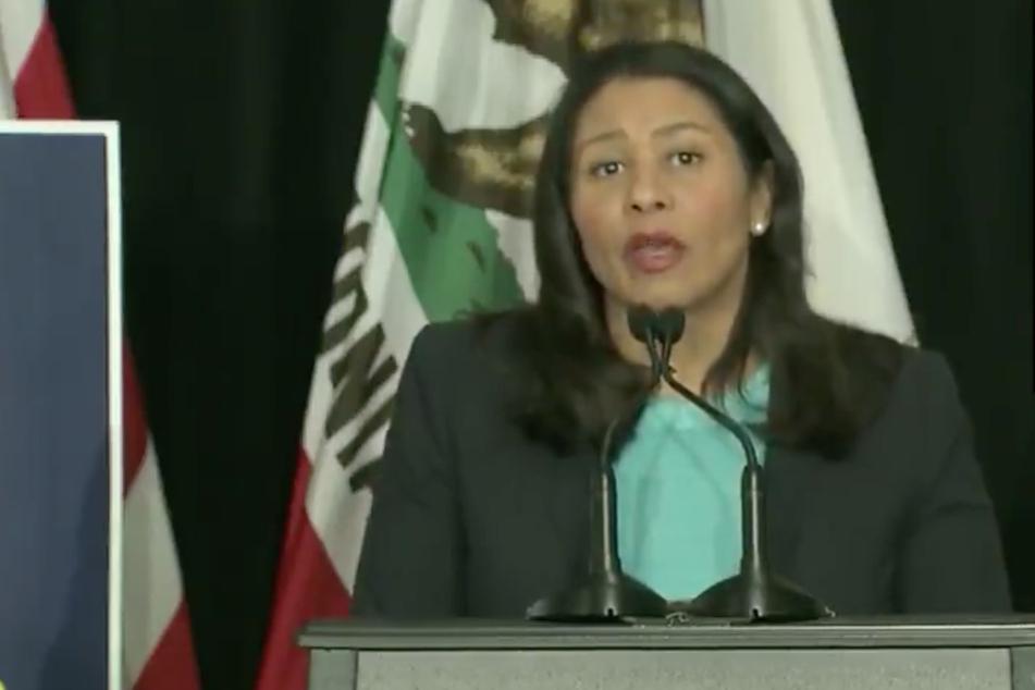London Breed (45), die Bürgermeisterin von San Francisco, bei einer Ansprache.