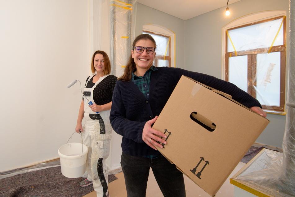 Noch werden Wände bemalt und Kisten gepackt, doch bald zieht Alina Lauterlein (38) mit der Praxis hier ein.