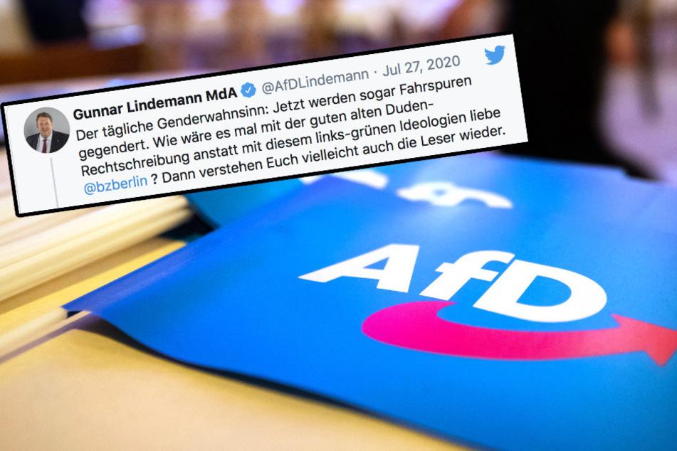 """AfD-Politiker regt sich über """"Gendergaga"""" auf und blamiert sich"""